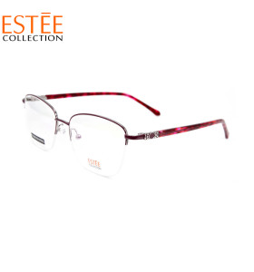 Hot sale new fashion custom Diamond eyewear frames Metal halfrim optical eyeglasses for women