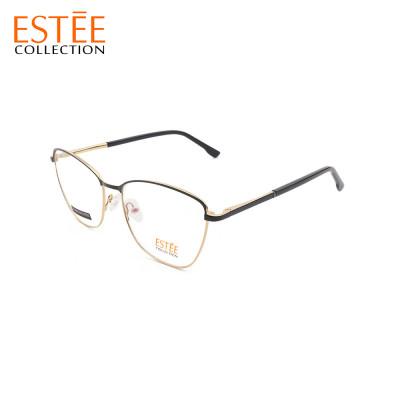 Wholesale new factory custom contracted style steel eyeglasses metal optical eyewear frames woman
