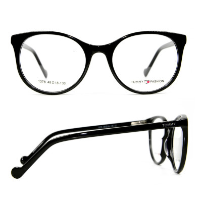 Top sale fashion colorful pattern eyeglasses thin Acetate round eyewear frames for young children