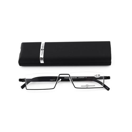 Venta superior nueva moda estilo moderno TR temple eyewear gafas de lectura ópticas de metal con estuche liviano
