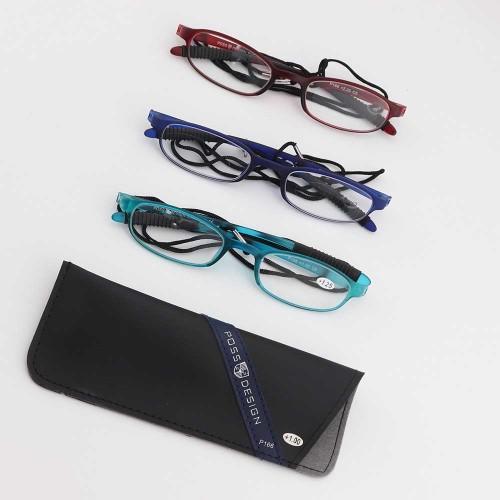 Fuente promocional de fábrica de China Nueva moda estilo único TR90 gafas de lectura ópticas de calidad suave con bolsas