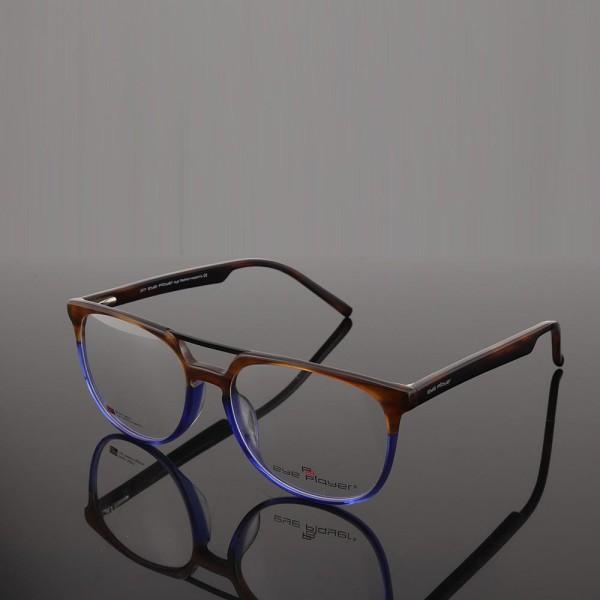 Suministro de fábrica al por mayor nuevo diseñador de moda gafas de puente doble acetato marcos de anteojos ópticos para hombres