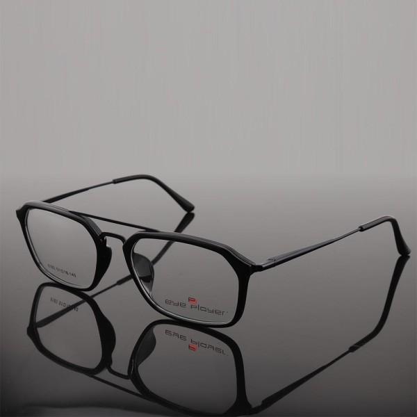 Venta caliente en línea nuevo stock moda gafas de estilo único doble puente TR metal gafas ópticas marcos para hombre