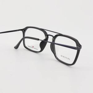 Online sıcak satış yeni stok trendy benzersiz tarzı eyewears çift köprü TR metal optik gözlük çerçeveleri mens
