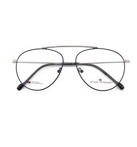 الصين مصنع توريد الموضة eyewears معدن الذهب النظارات الإطار مع منصات الأنف السيليكون مريحة
