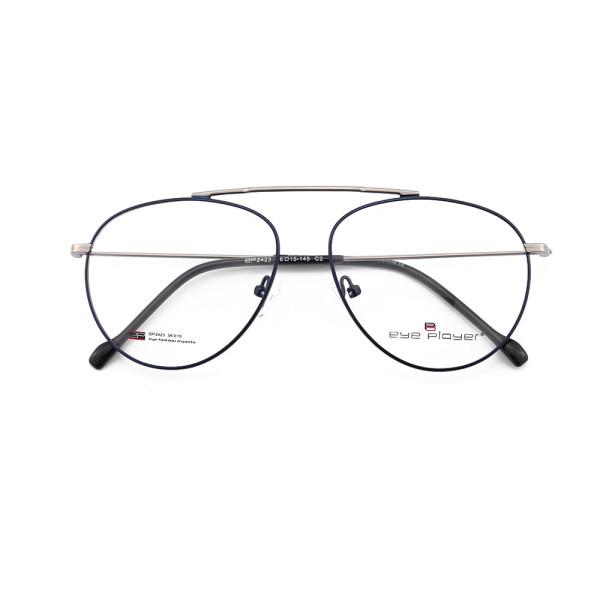 Suministro de fábrica de China nuevas gafas de metal de moda gafas de montura dorada con almohadillas nasales de silicona cómodas
