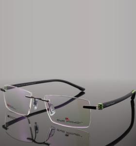 Gafas de metal ópticas únicas sin montura de moda modelo nuevo más populares para hombre montura de gafas TR mejor calidad