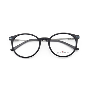 زوهو مصنع العرض منخفضة موك أزياء الأعمال جولة النظارات خلات شعبية نظارات إطارات معدنية للرجال