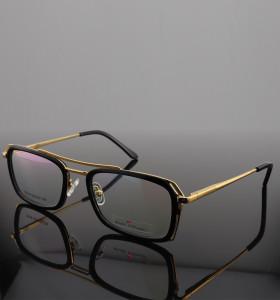 Suministro de fábrica promocional nuevos marcos de anteojos livianos de lujo para hombre gafas ópticas de puente de acetato de metal