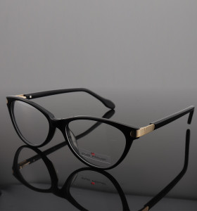 Alta calidad nuevos diseños únicos de moda gafas finas Acetato de metal modernas gafas ópticas monturas ligeras