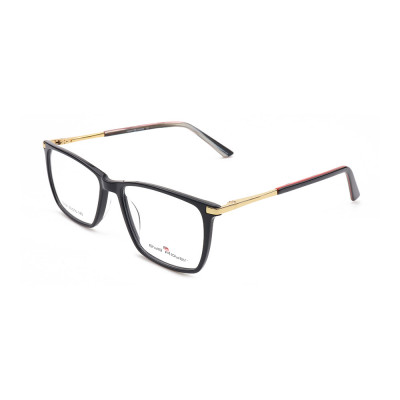 Guangzhou factory Design new business fashion eyewears metal acetate square frame optical glasses mens