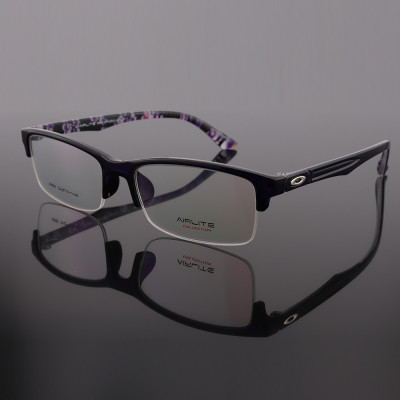 Newest hot sale novelty pattern design eyewears TR Halfrim flexible optical eyeglass frames for men