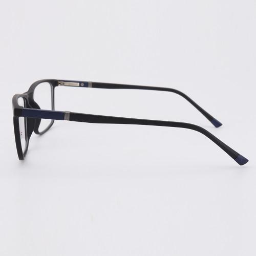 Gafas de moda con estilo para jóvenes Gafas de montura ópticas cuadradas de plástico TR90 para hombres ligeros