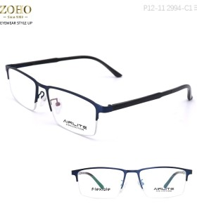 RETRO STYLE METAL OPTICAL FRAME WITH TR TEMPLE TIP FOR UNISEX AIRLITE BRAND