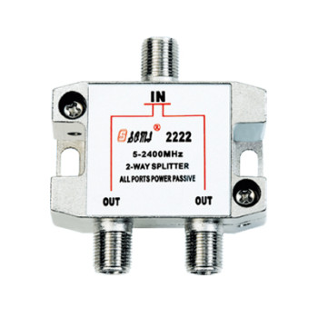 Eurppean Type Indoor 2 way Satellite Splitter (5-2400MHz)
