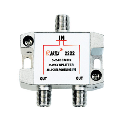European Type Indoor 2 way Satellite Splitter (5-2400MHz)
