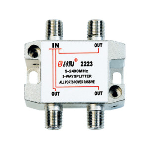 European type Indoor 3 way satellite splitter(5-2400MHz)