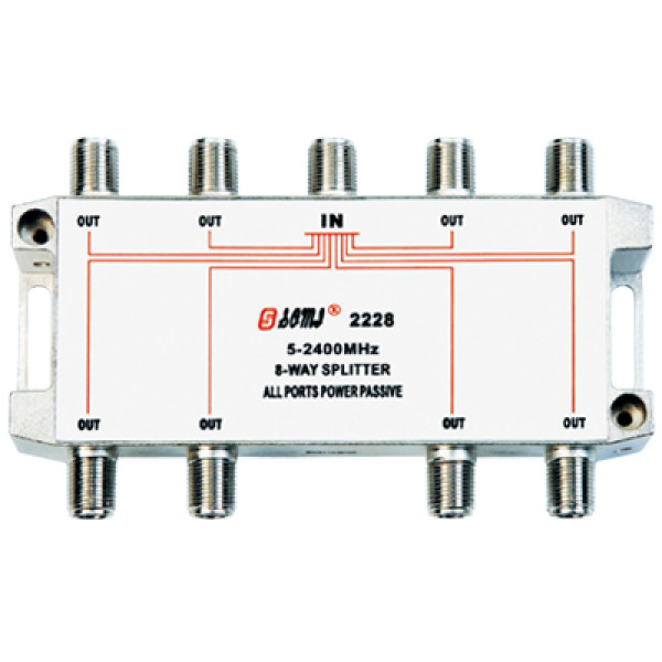 Eurppean type Indoor 8 way satellite splitter(5-2400MHz)