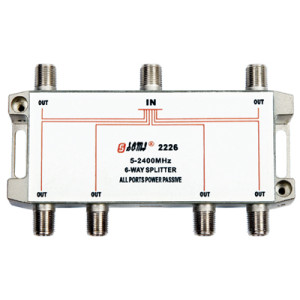 Eurppean type Indoor 6 way satellite splitter(5-2400MHz)
