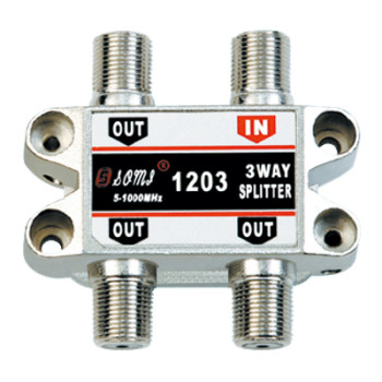 Luxurious Type Indoor 3 way CATV Splitter(5-1000MHz)