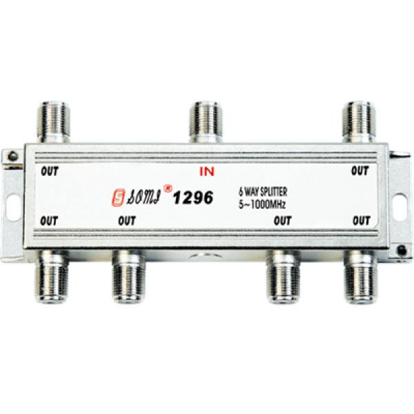 High Quality Type Indoor 6 way CATV Splitter(5-1000MHz)