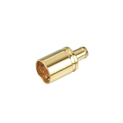 F quick male connector, straight crimp type for 4C/1.9C coaxial cable using