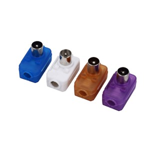 IEC male connector, used for 4C coaxial cable, easy to assemble.