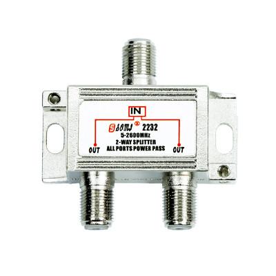 High-Quality Indoor 2-way Satellite Splitter(5-2400MHz)