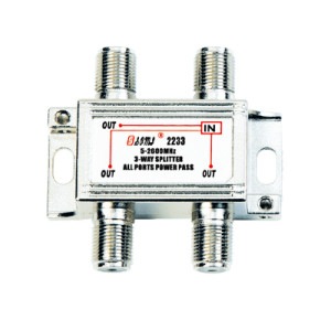 High-Quality Indoor 3-way Satellite Splitter(5-2400MHz)