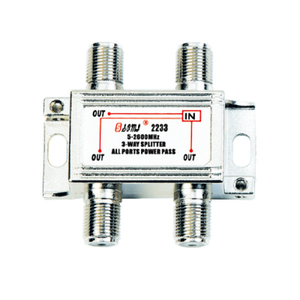 High-Quality Indoor 3-way Satellite Splitter(5-2400MHz)