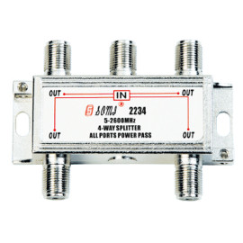 High-Quality Indoor 4-way Satellite Splitter(5-2400MHz)