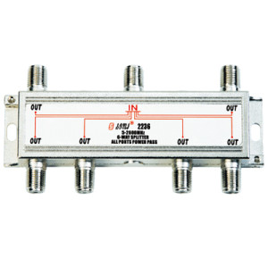 High-Quality Indoor 6-way Satellite Splitter(5-2400MHz)