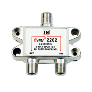 China Manufacturer Indoor 2-way Satellite Splitter (5-2400MHz)