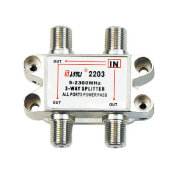 China Manufacturer Indoor 3-way Satellite Splitter (5-2400MHz)