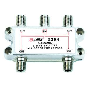 China Manufacturer Indoor 4-way Satellite Splitter (5-2400MHz)
