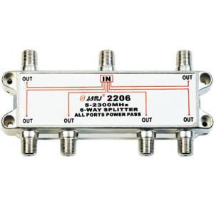 China Manufacturer Indoor 6-way Satellite Splitter (5-2400MHz)