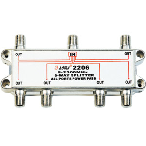 China Manufacturer Indoor 6-way Satellite Splitter (5-2400MHz)