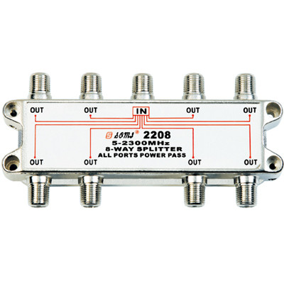 China Manufacturer Indoor 8-way Satellite Splitter (5-2400MHz)