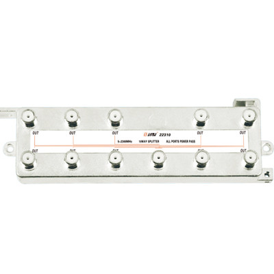 Vertical Type Indoor 10-way Satellite Splitter(5-2400MHz)