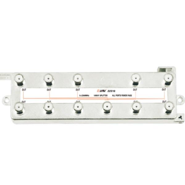 Vertical Type Indoor 10-way Satellite Splitter(5-2400MHz)