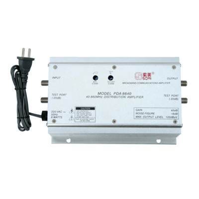 TV antenna amplifier, aluminium housing, Adjustable Gain 40dB(for catv use)