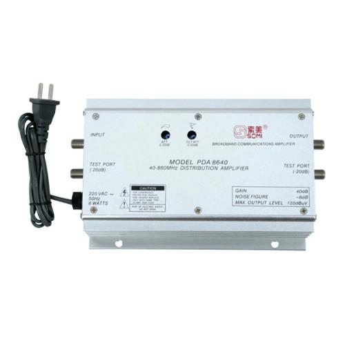 TV antenna amplifier, aluminium housing, Adjustable Gain 40dB(for catv use)