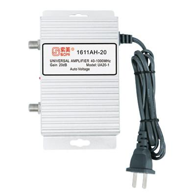TV antenna amplifier, aluminium housing, Gain 20dB(for catv use)
