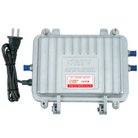 Satellite line in amplifier, 900-2200MHz, Alloy Zinc housing with nickekel-plated