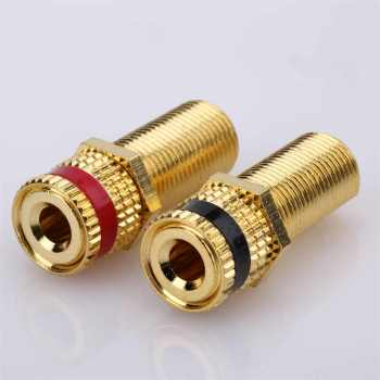 RCA Connector, RCA Jack, Gold-plated for Audio Using