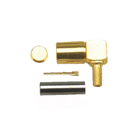 SMA Male Plug RF Coaxial Connector For Cable RG179 Right Angle Gold-plated