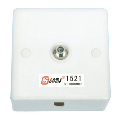 CATV Socket Outlet 5-1000 MHz one port terminal type F connector