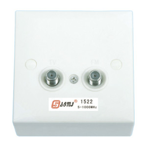 CATV wall Socket wall Outlet two F connector port 5~1000 MHz