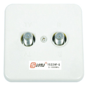 CATV wall Socket wall Outlet two F connector port 5~1000 MHz Double F connector port isolation