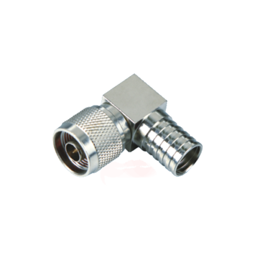 UHF male connector right angle crimp type nickel-plated